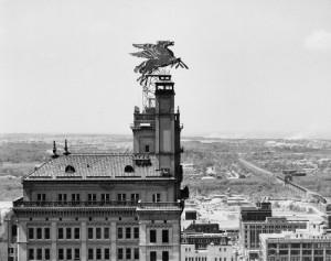 Pegasus atop Magnolia Building.