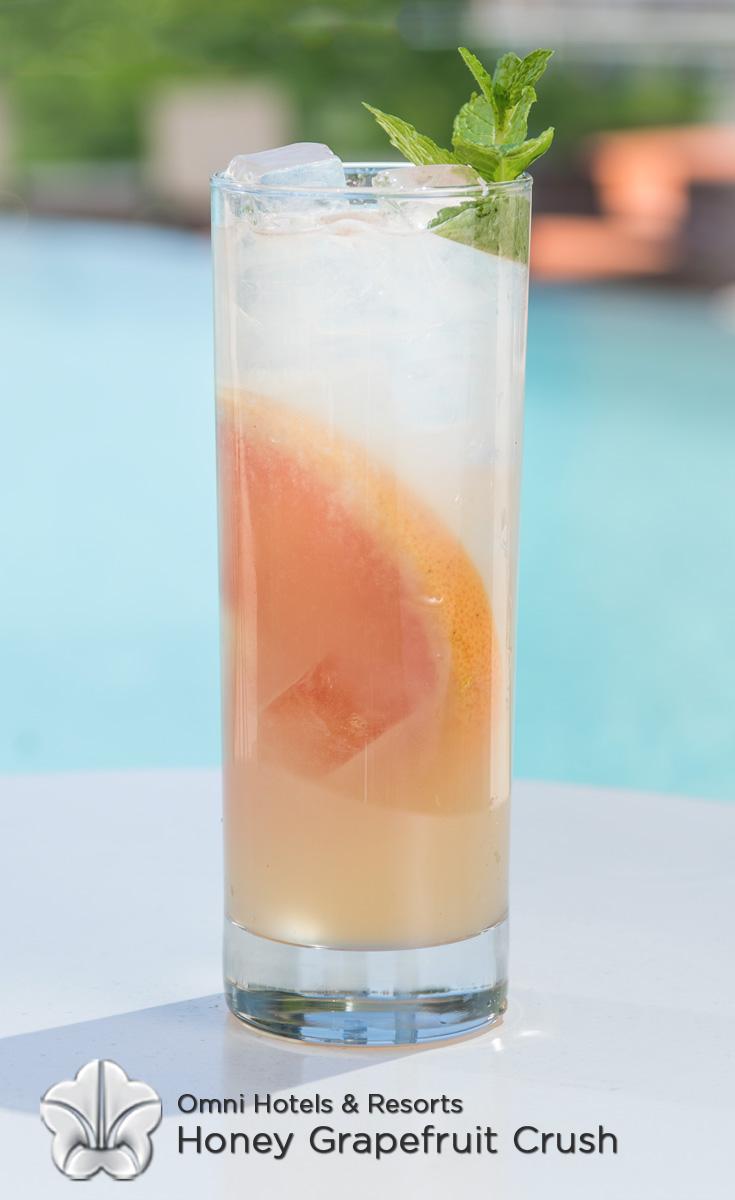 Cocktails with Honey - Honey Grapefruit Crush