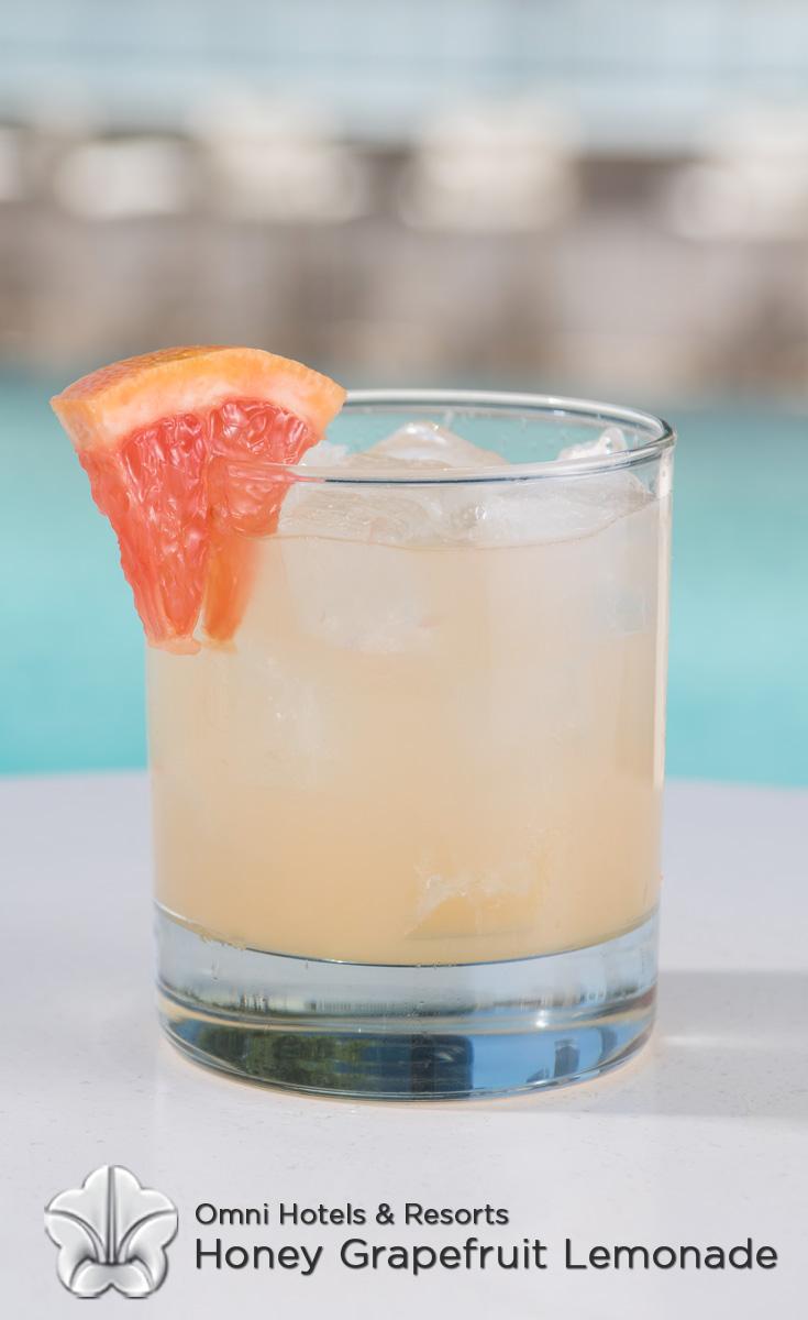 Cocktails with Honey - Honey Grapefruit Lemonade