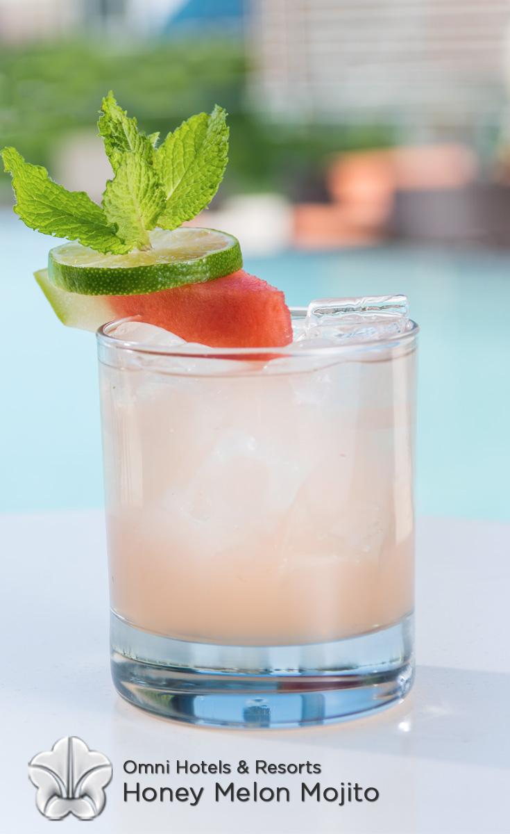 Cocktails with Honey - Honey Melon Mojito