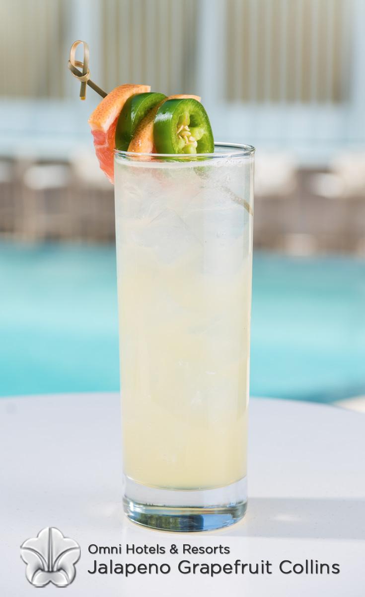 Cocktails with Honey - Jalapeno Grapefruit Collins