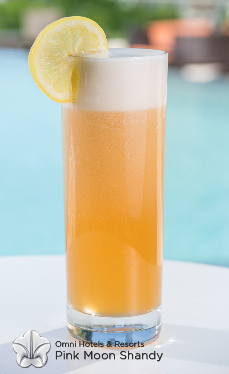 Cocktails with Honey - Pink Moon Shandy