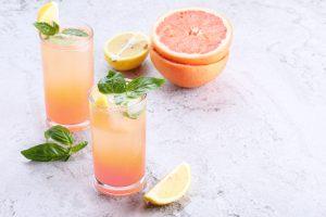 fresh pink grapefruit cocktail