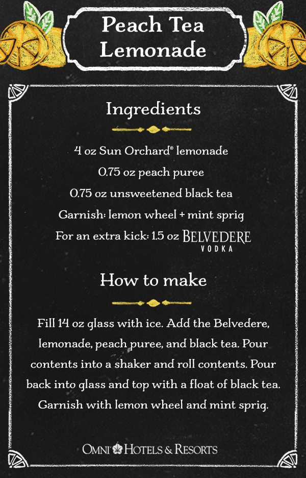 Peach Tea Lemonade Recipe Southeast