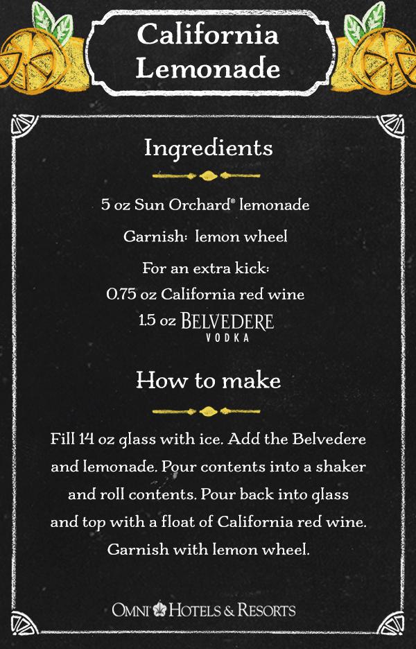 California Lemonade Recipe