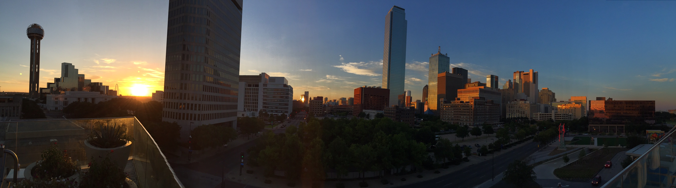 Downtown Dallas Sunset