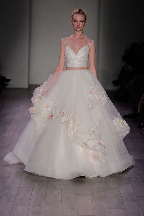 Fall 2016 wedding dresses revealed new bridal trends for Wedding dresses with flowers