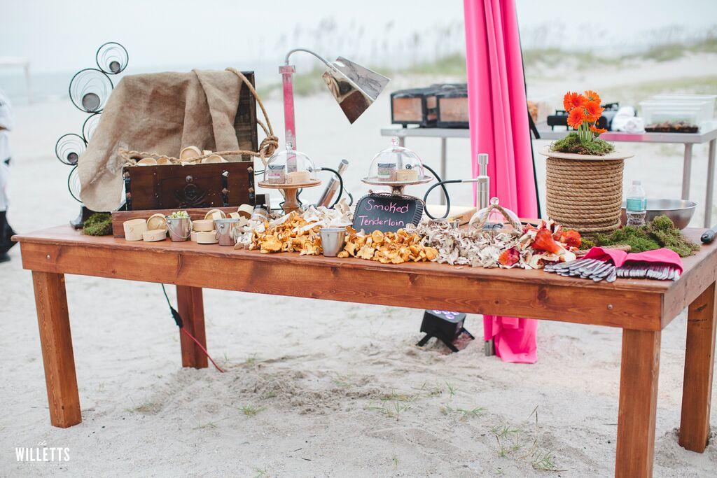 Reception Beach - Meat Smoker Station