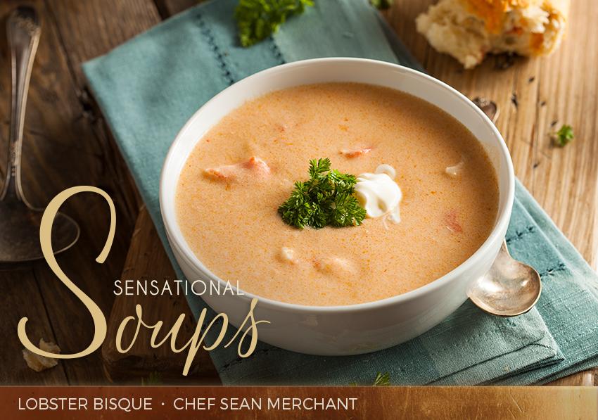 sensational soups: lobster bisque