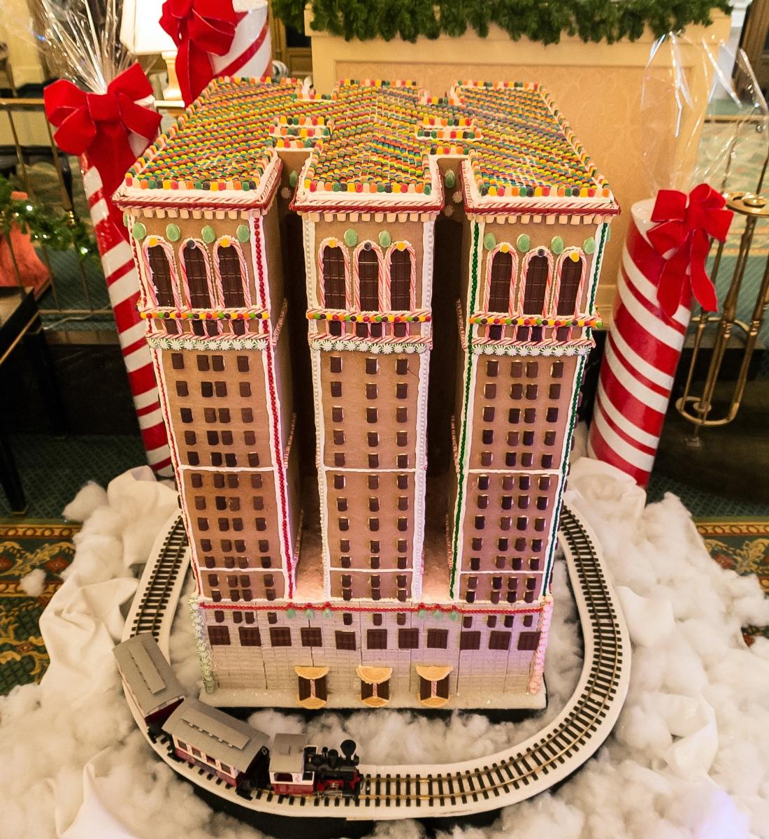 Gingerbread replica of Omni William Penn Hotel