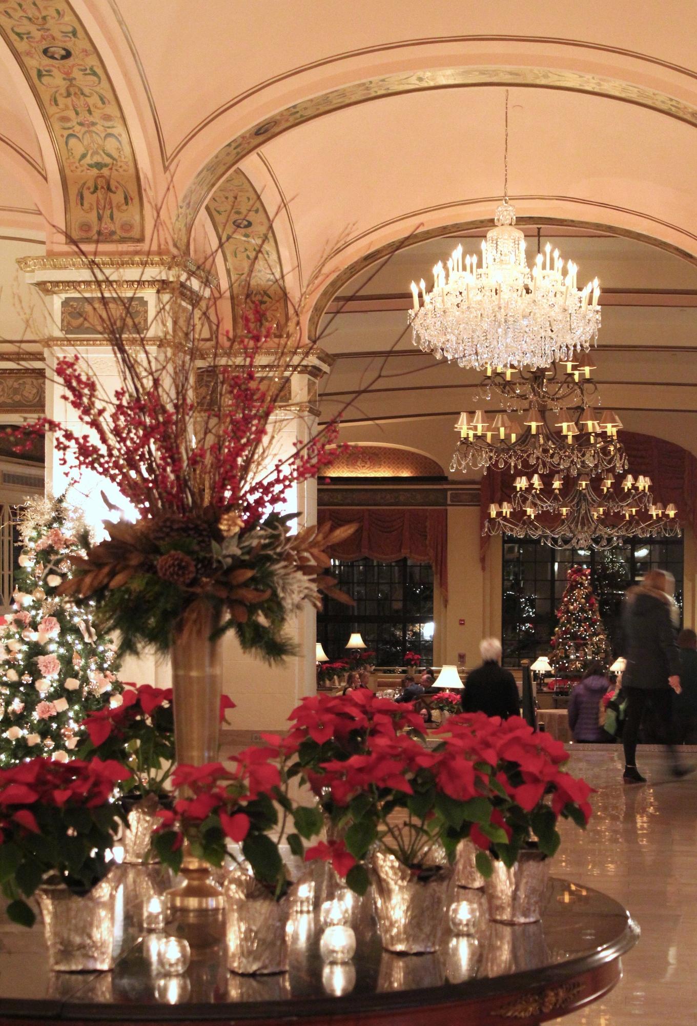 Holiday Decor at Omni Shoreham Hotel