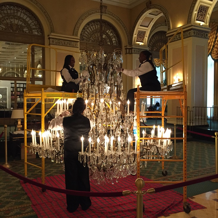 Celebrating decades of sparkle omni william penn hotels crystal the chandeliers were installed in the early 1960s and are handmade bohemian maria theresa silver crystal style maria theresa was one of the great mozeypictures Gallery