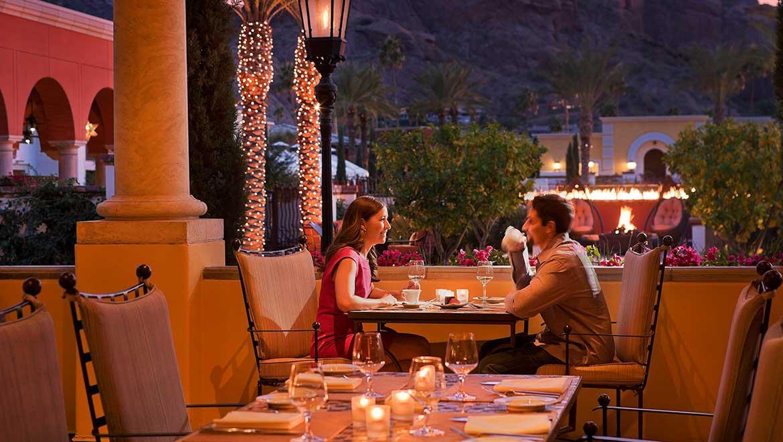 Romantic dinner at Prado in Scottsdale