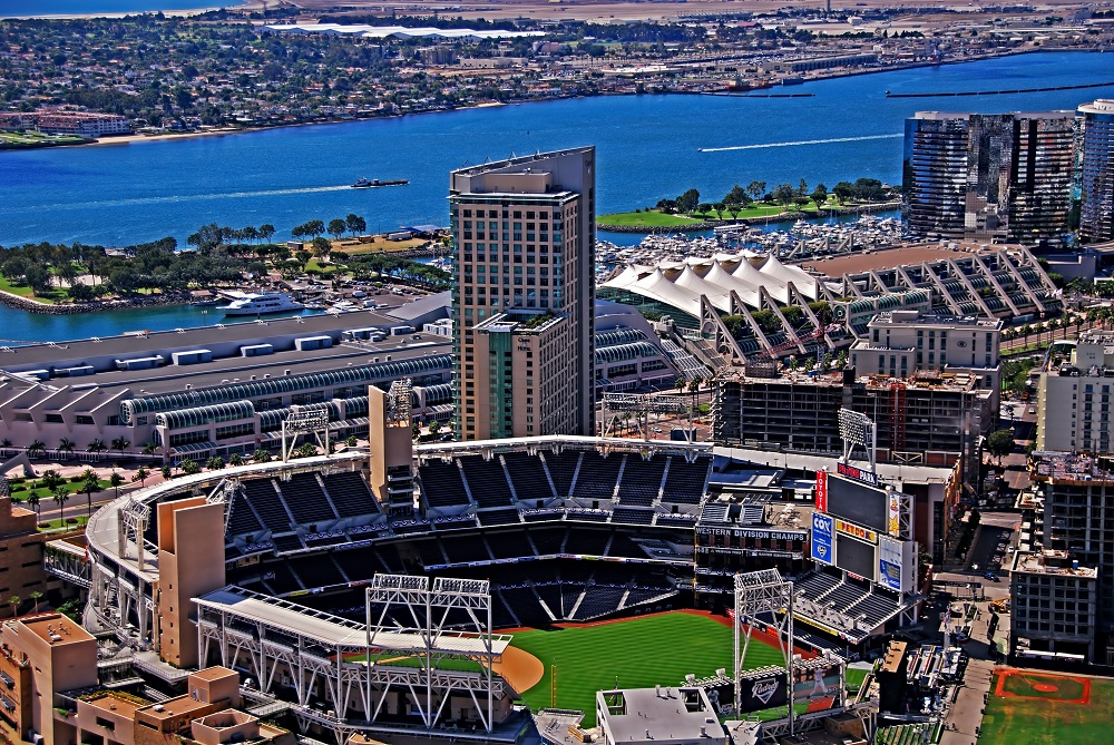View of Petco Park in San Diego, California