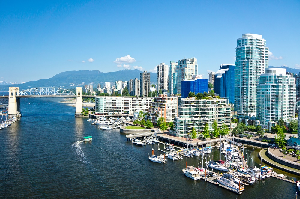 View of Vancouver, British Columbia, Canada
