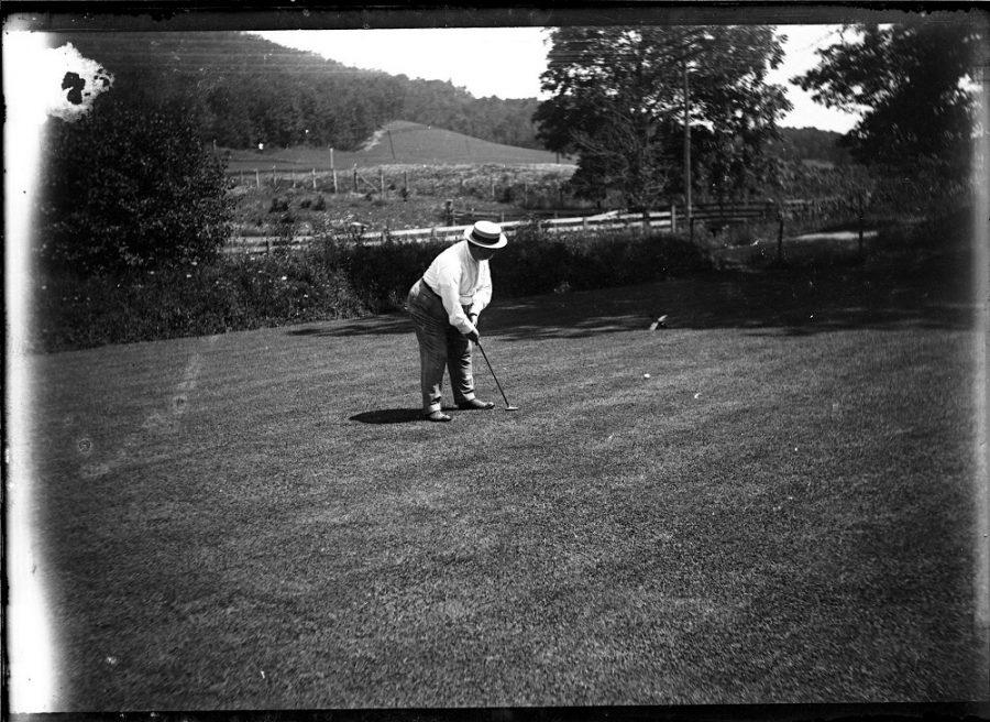 William Howard Taft playing golf
