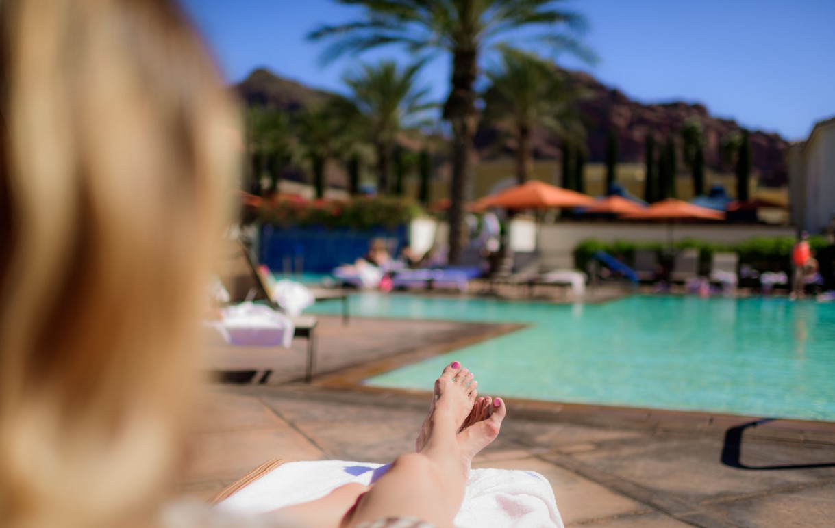 Woman by Pool in Scottsdale