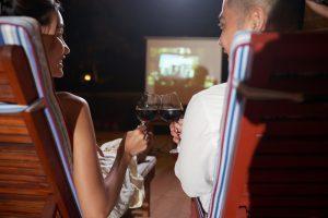 Date night movie outdoors