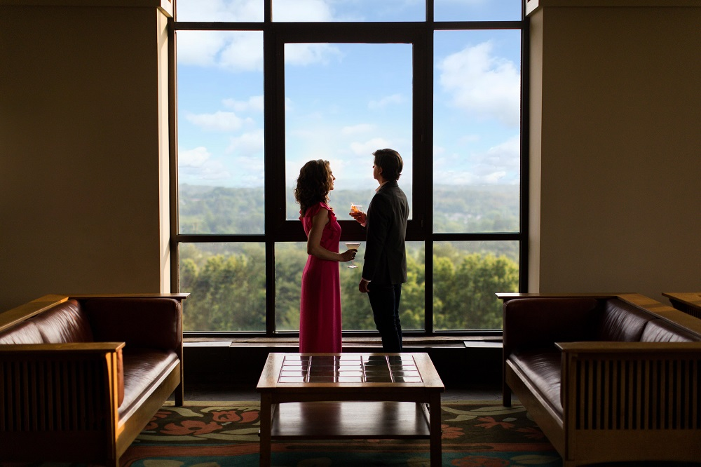 Couple at The Omni Grove Park Inn