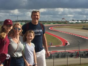 Family at Austin Grand Prix