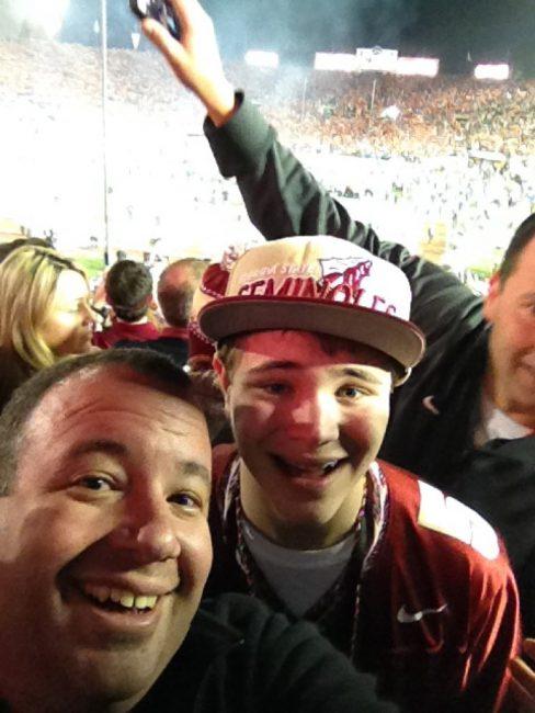 Celebrating at Rose Bowl