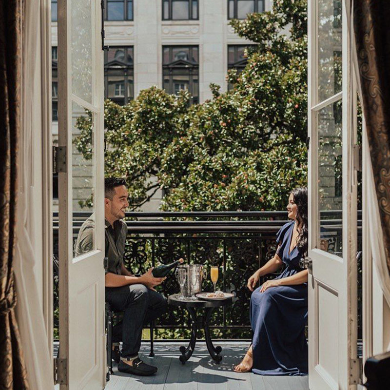 Couple on a Romantic Staycation in New Orleans