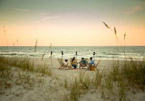 Family Beach Getaway in Fall