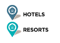 hotels and resorts map legend